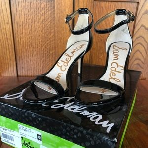Sam Edelman Black Patent Leather w Ankle Strap